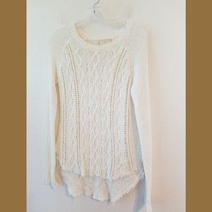 Anthropologie Ruby Moon Cream Knit LS Sweater Sm